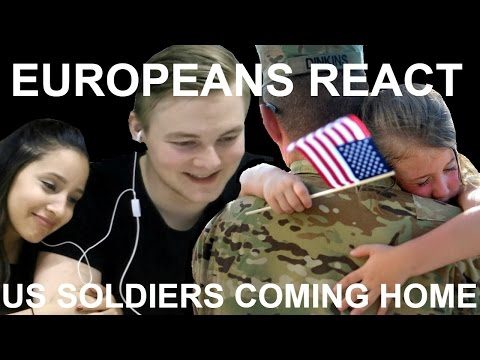 Europeans React To American Soldiers Going Back Home