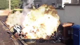 Bin man explodes