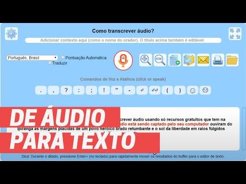 Como transcrever áudio gravado para texto automaticamente a custo zero