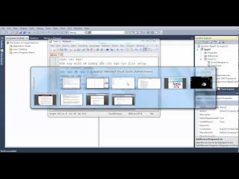 Tạo File cài đặt trong Visual studio