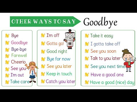 """How to Say Goodbye: 22 Other Ways to Say """"Goodbye"""" in English"""