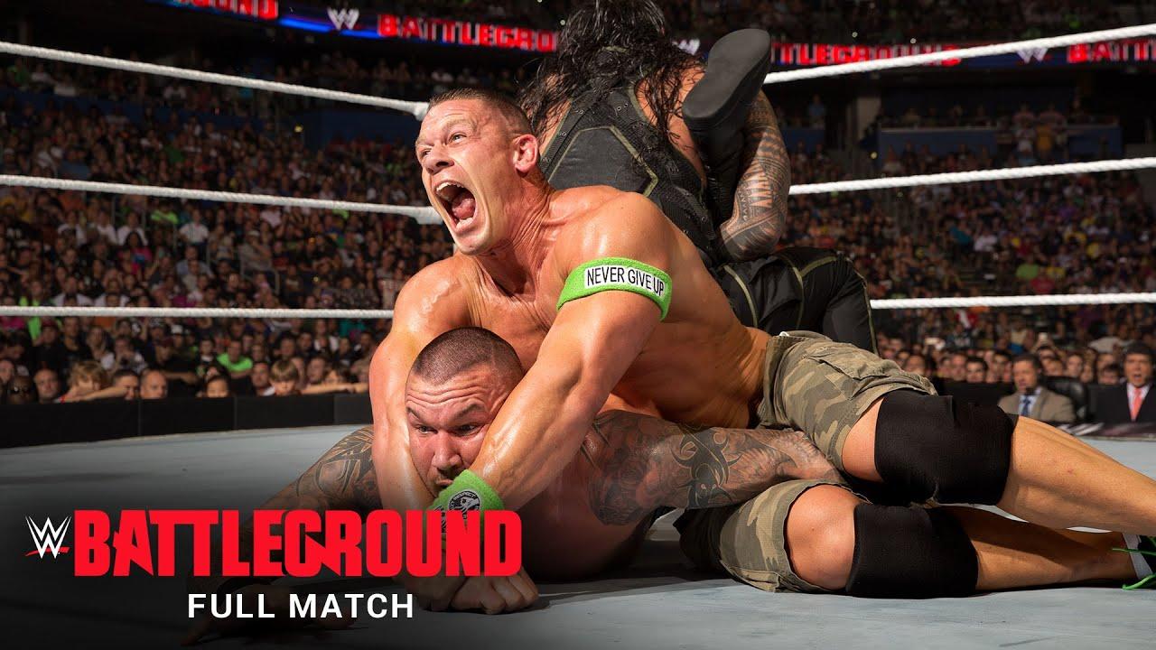 Download FULL MATCH: Roman Reigns vs. Randy Orton vs. Kane vs. John Cena –Title Match: WWE Battleground 2014