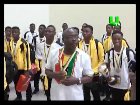 Ghana's Black Starlets arrive to a hero's welcome after U-17 heroics