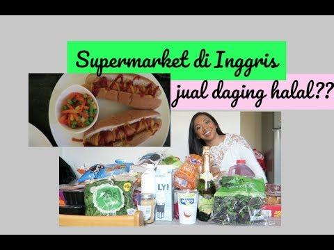 SUPERMARKET DI INGGRIS JUAL DAGING HALAL?? | makan malam hotdog!