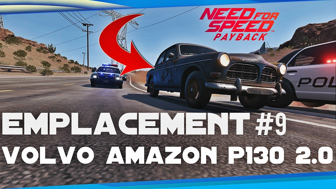need for speed payback emplacement voiture abandonne 9 volvo amazon p130 2 0 youtube. Black Bedroom Furniture Sets. Home Design Ideas