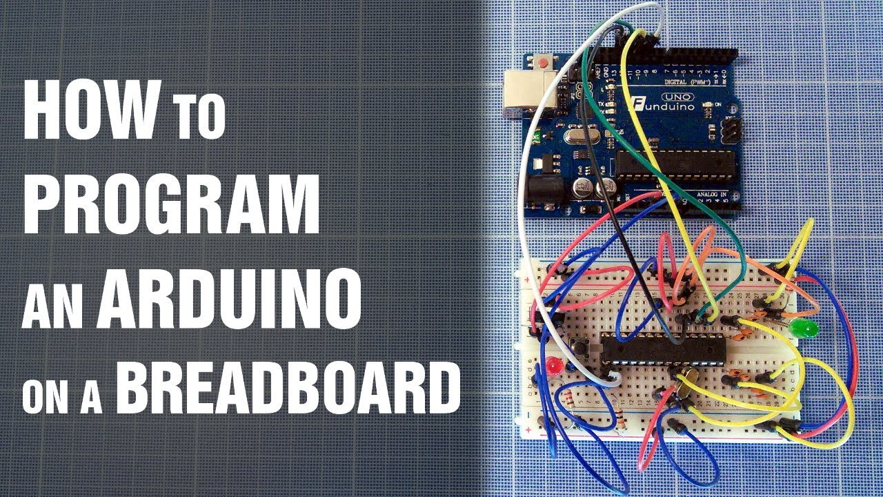 How To Program An Arduino On A Breadboard Without Usb Atmega8 Circuit Part 1 Of 3 Power Supply Tutorial