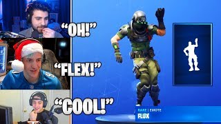 STREAMERS Reacts TO *NEW* 'Flux' RARE Emote & Flytrap Skin BACK In Fortnite! (Fortnite Moments)