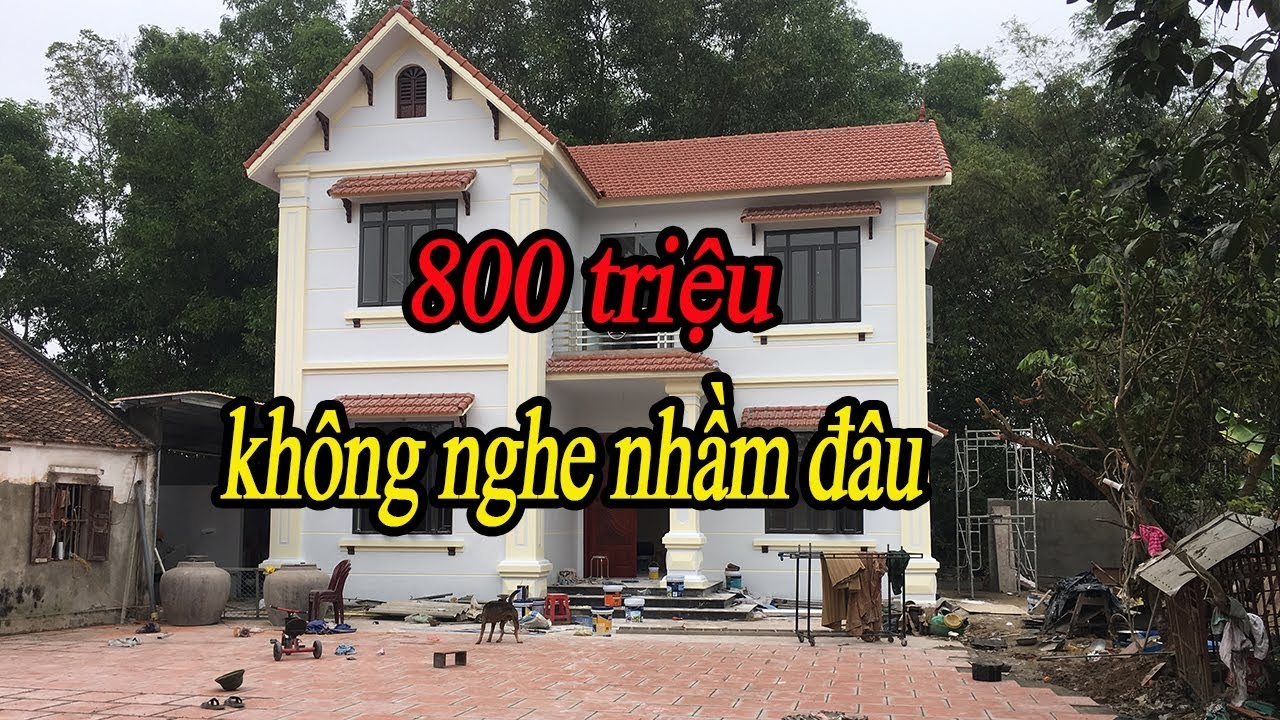 Mẫu nhà 2 tầng giá 800 triệu