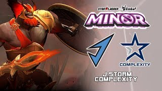 J.Storm vs Complexity | StarLadder ImbaTV Dota 2 Minor Season 2