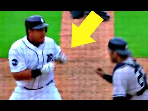 Yankees Tigers Fight BRAWL Miguel Cabrera vs  Austin Romine 8/24/2017 video HD