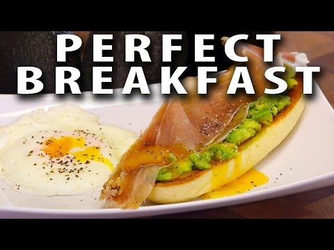 Fast and Delicious Avocado Prosciutto and Egg Breakfast Stack BIG MEAT SUNDAY