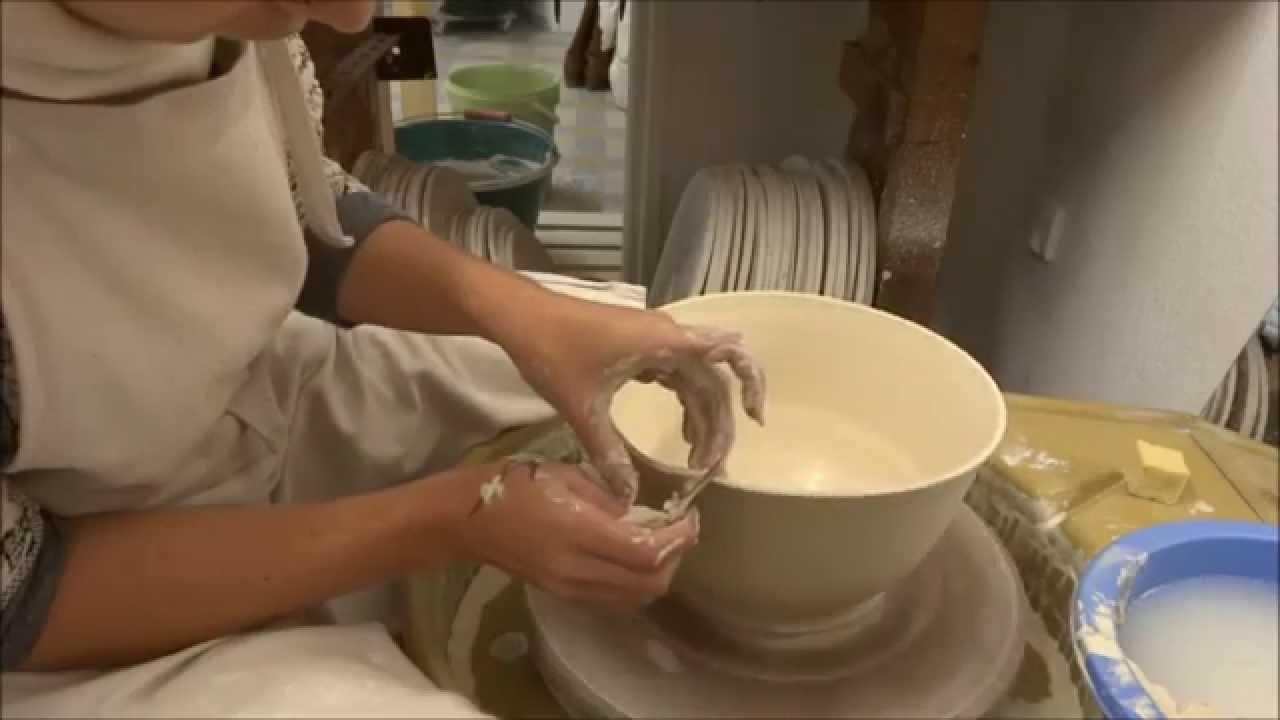 tournage d 39 un saladier en porcelaine les petites porcelaines youtube. Black Bedroom Furniture Sets. Home Design Ideas