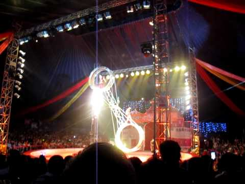 Chinese Performers in a Russian Circus in China