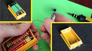 Membuat dudukan baterai ● stik es krim