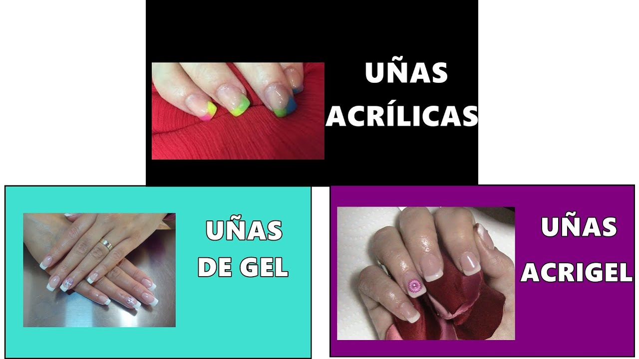 Diferencia Uñas Acrílicas , De Gel , Acrigel , Differences Acrylic Gel  Acrygel Nails , Principiantes , YouTube