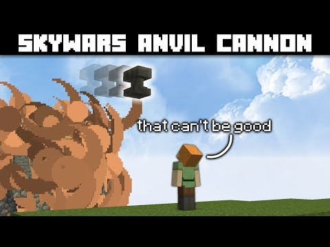 Anvil Cannon Trap In Skywars W/ TapL
