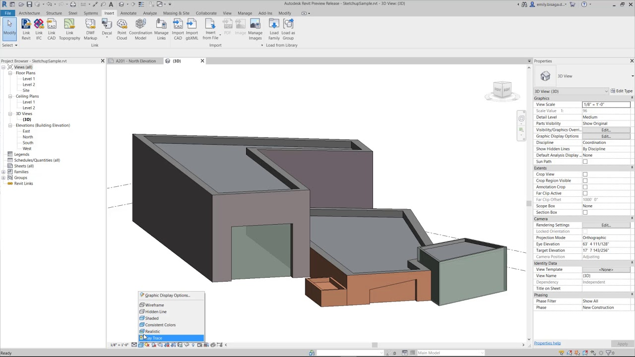 Revit 2020 | What's New: Support for Sketchup
