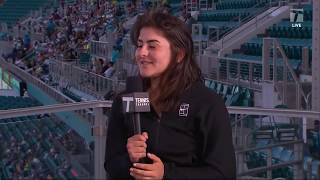 Bianca Andreescu - 2019 Miami Second Round Tennis Channel Desk Interview thumbnail