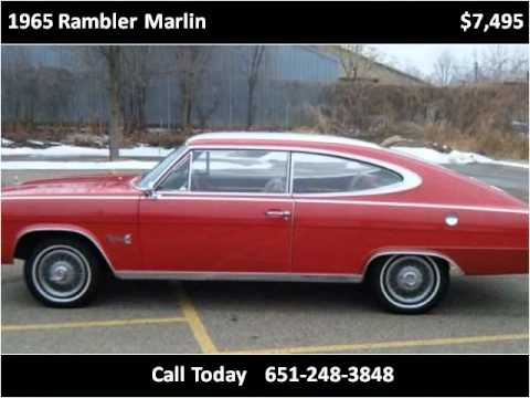 1965 rambler marlin used cars st paul mn youtube. Black Bedroom Furniture Sets. Home Design Ideas