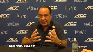 Notre Dame coach Mike Brey at 2019 ACC Operation Basketball