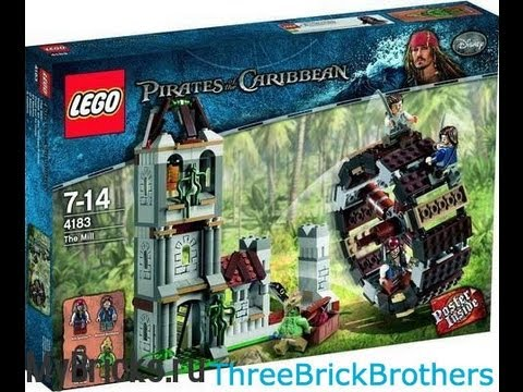 LEGO Pirates of the Caribbean The Mill 4183 Review - YouTube