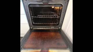 Oven Cooker glass cleaning pink stuff hot water loads of scrubbing unbelievable results