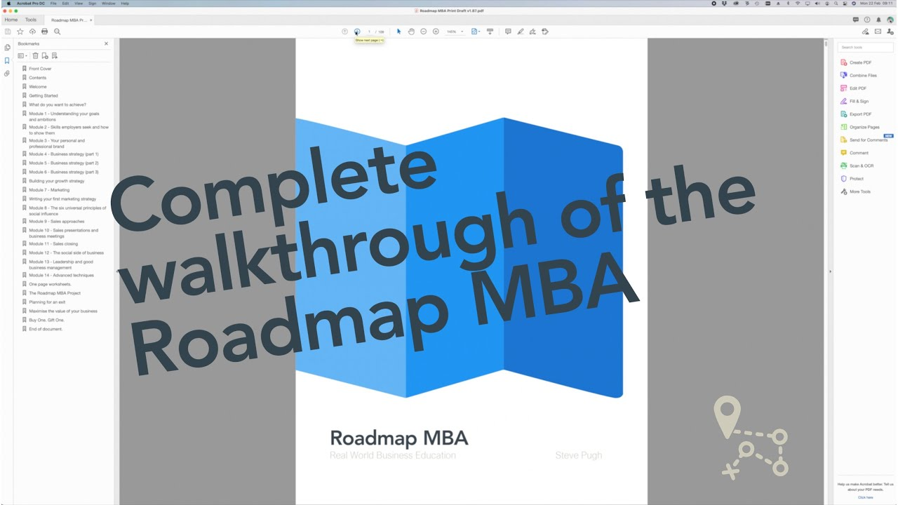 Complete walkthrough of the Roadmap MBA real world business course