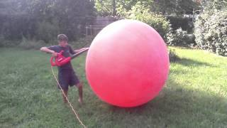 Blowing Up The 9 Foot Balloon Very Very Big