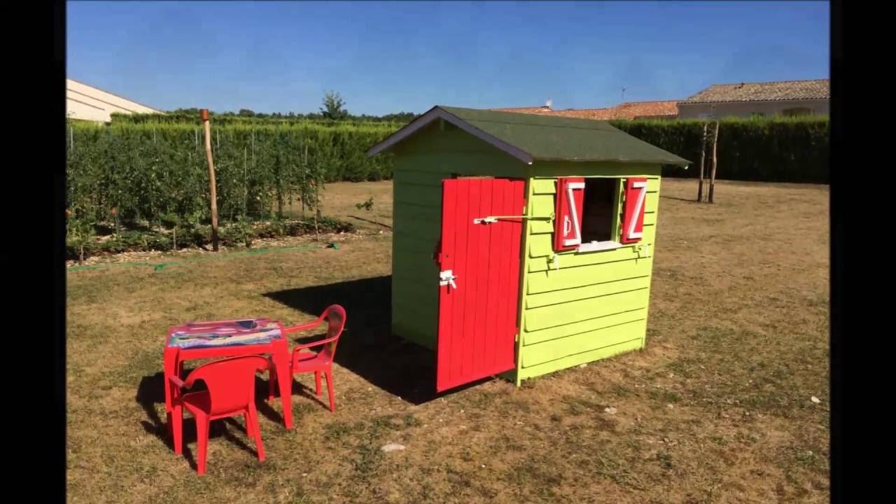 cabane en bois de palettes pour enfant