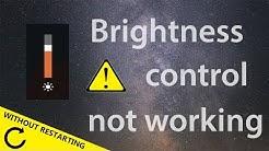 WINDOWS 10 | Brightness Control Not Working | QUICK FIX | NO RESTART