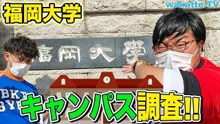 荒くれ者が多い?福岡大学のキャンパス調査!【wakatte.TV】#405