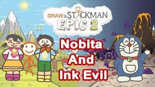 Video DORAEMON: NOBITA AND INK EVIL Draw a Stickman Epic 2 Gameplay - Nobita and Xuka Save Doraemon download MP3, 3GP, MP4, WEBM, AVI, FLV Juni 2018