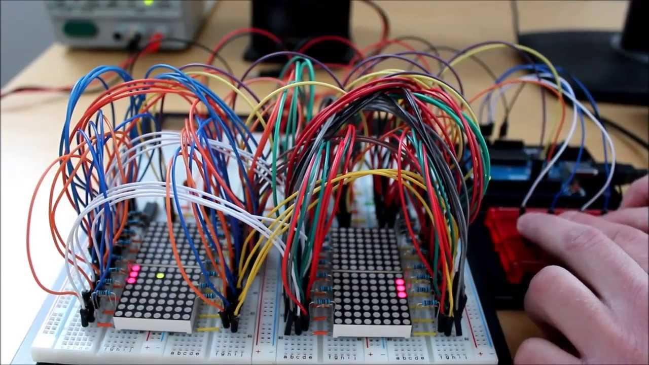 Arduino - Pong on 16x16 LED matrix