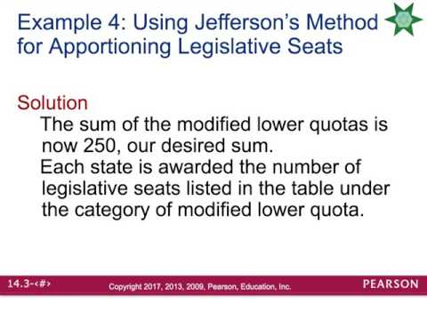 14.3 apportionment methods