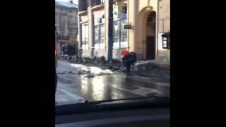Новые технологии уборки снега в Львове