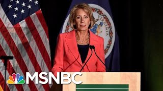 Unique Security Detail For Betsy DeVos To Cost Tax Payers Millions | Hallie Jackson | MSNBC