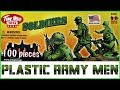 Tim Mee Plastic Army Men & Toy Soldiers Game Masters Brother Pretend Battle Play for Kids