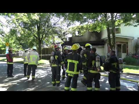 Working House Fire - Vancouver BC