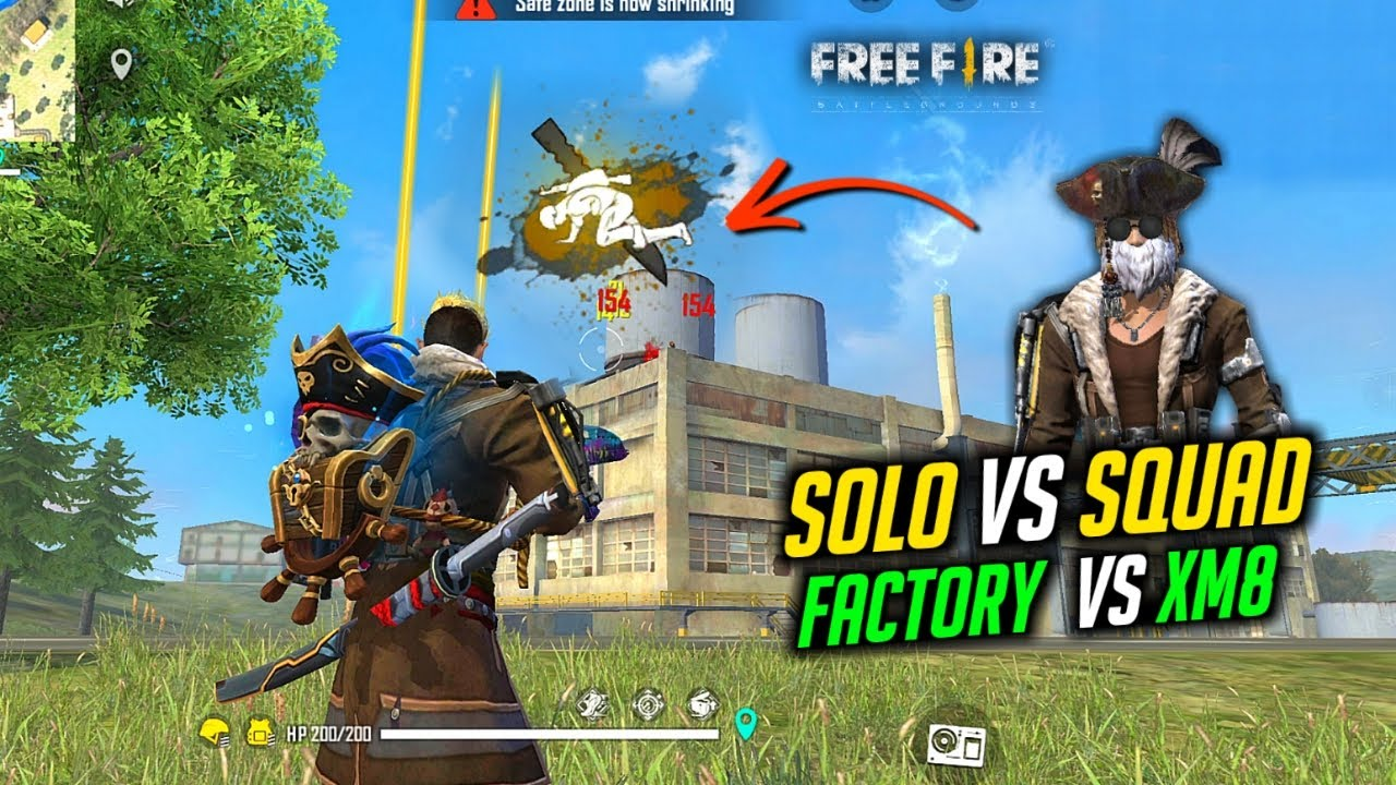 Solo vs Squad Factory Fight and Grenade Kill Gameplay - Garena Free Fire