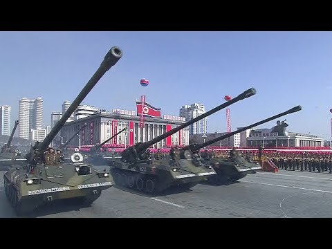 Pyongyang holds military parade on eve of Winter Olympics