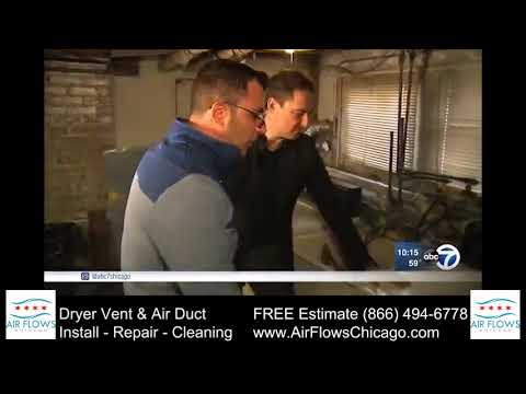 Air Flows Chicago on ABC7 News - Dryer vent cleaning  | How to clean a dryer vent