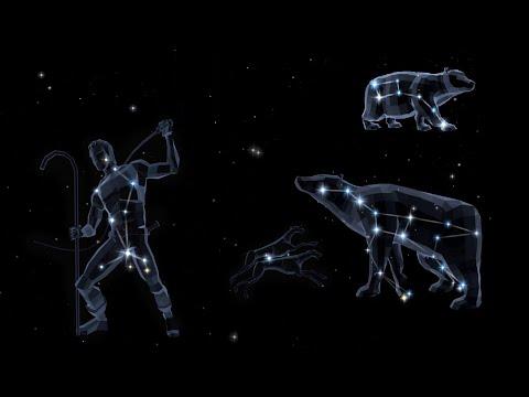 Легенды Космоса. Созвездия Большая и Малая Медведица, Волопас и Гончие Псы.