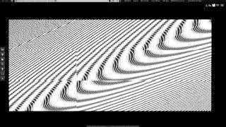 Static Moire Pattern Blk White Video Clip