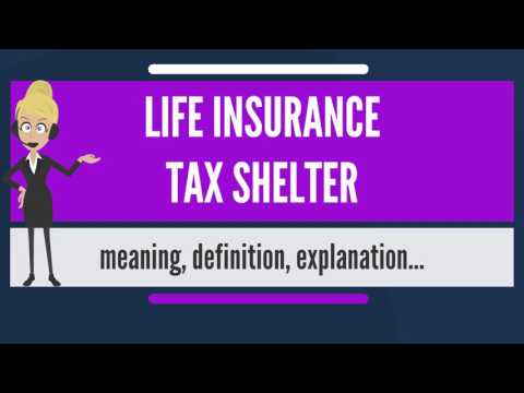 What is LIFE INSURANCE TAX SHELTER? What does LIFE INSURANCE TAX SHELTER mean?