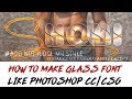 How To Make Glow Line Glass Font In Android Like Photoshop Cc Cs6 || By Shobi Editx
