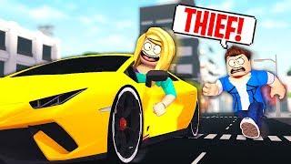 Ein zufälliges GOLD DIGGER Stole My SPORTS CAR !? - Roblox Rollenspiel (Mad City)