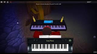 Gerudo Valley - LoZ by: Koji Kondo on a ROBLOX piano. [Revamped]