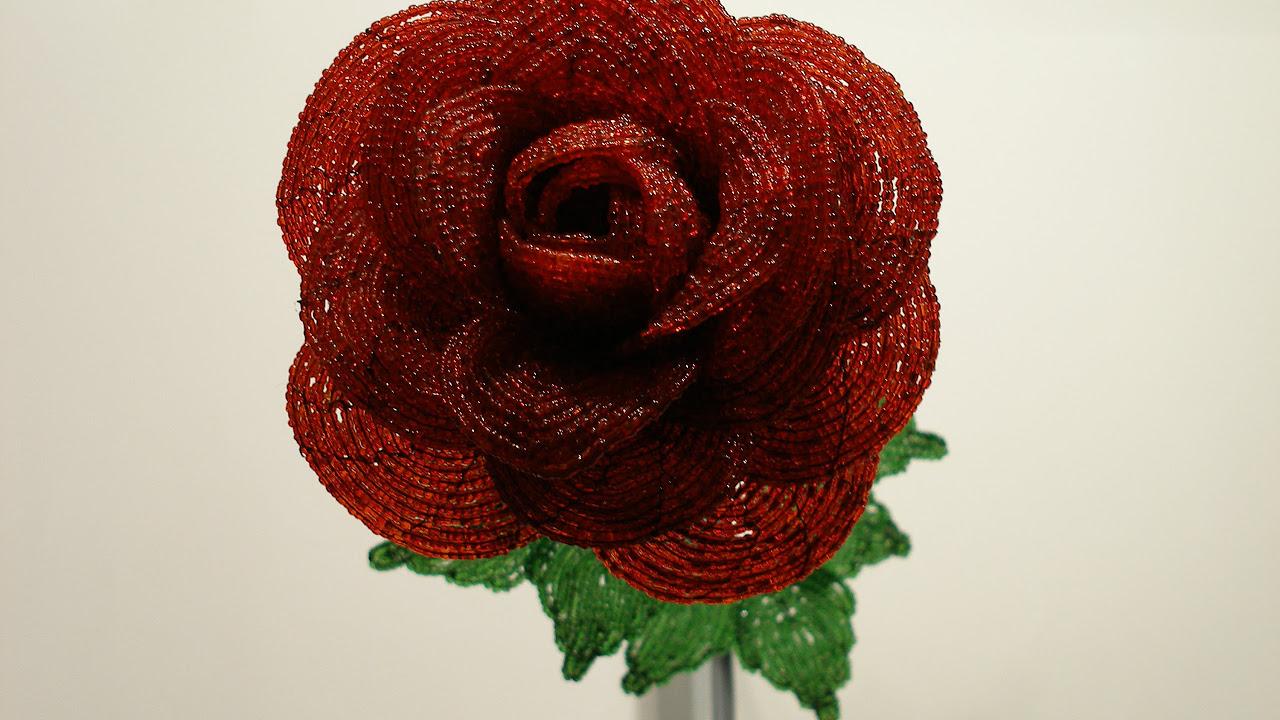 схема лепестки роз из бисера на проволоке