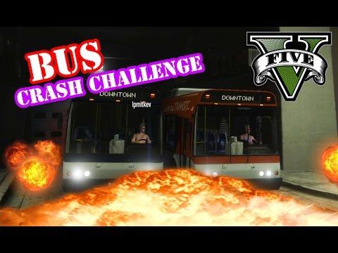 MEGA BUS CRASH CHALLENGE ★ GTA 5 Challenge mit LPmitKEV | PowrotTV
