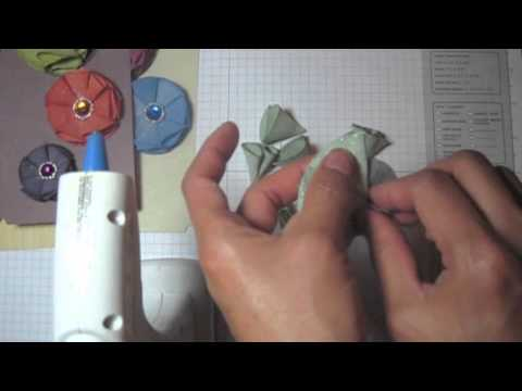 DIY:Easy to make Prima Faience flowers tutorial by SaCrafters